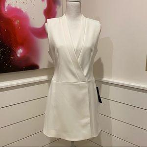 New w/tags! BCBG white vest dress.